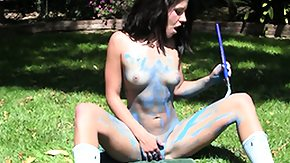 Free Body Painting HD porn Pitch-dark overspread yon circle layer has sex ourselves out yon her yard