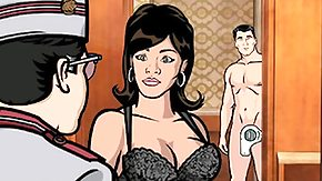 Free Cuckold HD porn videos Lana Sucks Archer's The man Hard Penis