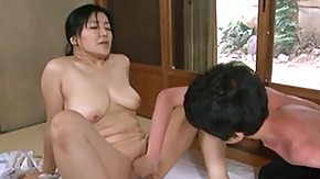 HD Hairy Asian pussy taking a banana and a cock