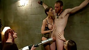 Dominatrix, 4some, BDSM, Bitch, Bound, Brunette