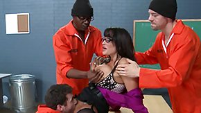 Jail, 4some, Big Pussy, Big Tits, Boobs, Coed