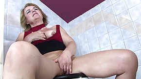 Granny, Big Pussy, Big Tits, Blonde, Boobs, Caught