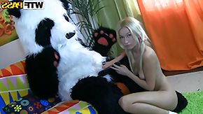 Russian Girls, Anorexic, Blonde, Boobs, Costume, Dildo