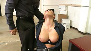 Police, Big Tits, Blowjob, Boobs, Bound, Brunette