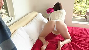Petite, Anorexic, Bed, Bend Over, Best Friend, Blowjob