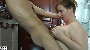 Free Russian BBW HD porn videos Chunky floozy Flo gives young Benjamin and sucking off in times gone by he bangs her