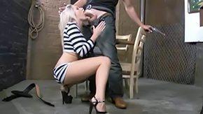 Prison, Aunt, Babe, Big Tits, Blonde, Blowjob