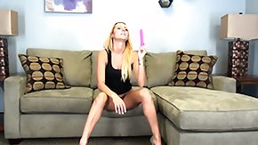 Nikki Seven, Amateur, Blonde, Cute, Masturbation, Sofa