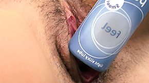 Free Bottle HD porn videos She's so horney that this cutie even fucks herself with the lube bottle