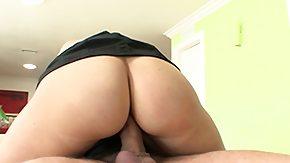 Maid, Brunette, Hardcore, Maid, Penis, Riding