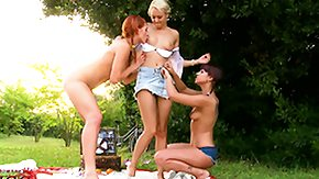 Russian Orgy, 3some, Babe, Blonde, Czech, Feet