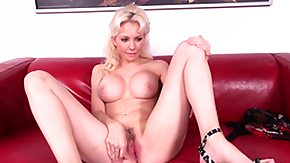 HD Margo Russo tube Busty blonde MILF Margo Russo admires posing her hot body on the couch