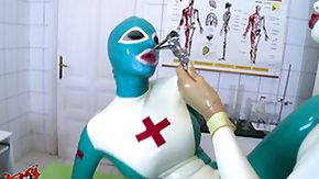 Latex Nurse, Angry, Big Tits, Boobs, British, British Big Tits