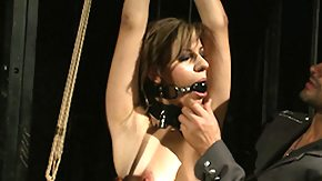 HD Nipple Clamp tube Bound slave wins gagged over and above torture with butterfly nipple clamps