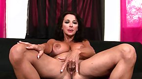 Busty Ciara HD porn tube Busty gark-haired cougar Ciara Blue takes a break to finger her own snatch