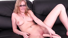 Blonde Dildo, Blonde, Blowjob, Couple, Cumshot, Dildo