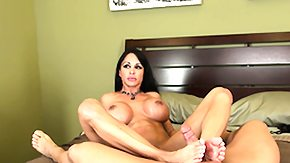 Jewels Jade, Big Tits, Boobs, Brunette, Cumshot, Footjob