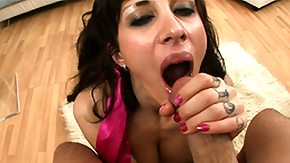 HD Nose Sex Tube Grimacing punk is fucked in the mouth up to spunk comes out of her nose