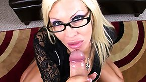 Michelle Mclaren, Blonde, Blowjob, Glasses, Mature, MILF