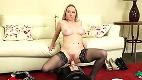 Nylon, Blonde, Masturbation, Mature, Mature Fetish, MILF