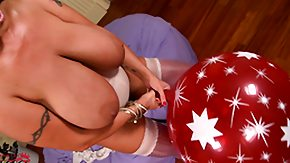 Red, Balloon, Big Tits, Blonde, Boobs, Brunette