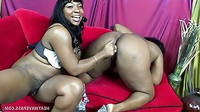 Black Lesbians HD porn tube These 2 big black lesbians are both focused on making the other cum