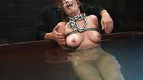 Chained, Brunette, Chained, MILF, Tied Up