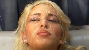 Group Sex, Blonde, Blowbang, Bukkake, Cum, Cum Drenched